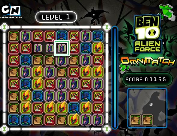 flash-puzzle-game-ben-10-omni-match