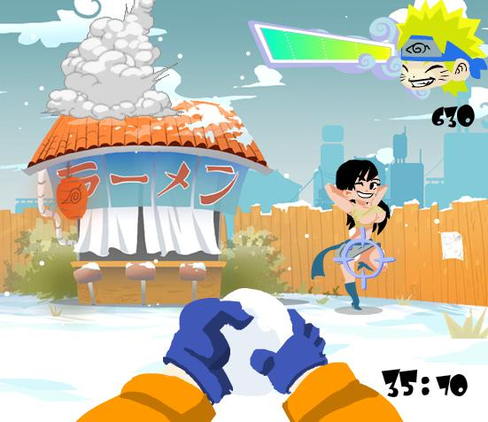 flash-shooting-game-naruto-snowy-battle-field